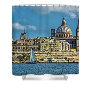 Sail Boat And Cathedral Shower Curtain