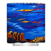 Sailing Sedonas Sky Shower Curtain