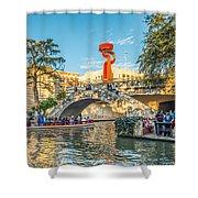 San Antonio River Walk Shower Curtain