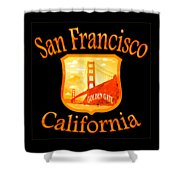 San Francisco California Golden Gate Design Shower Curtain