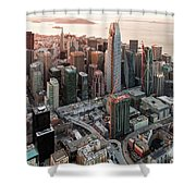 San Francisco Financial District Skyline Shower Curtain