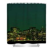 San Francisco Nighttime Skyline Shower Curtain