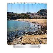Sand Beach Acadia National Park Shower Curtain