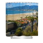 Santa Monica Ca Steps Palisades Park Bluffs  Shower Curtain
