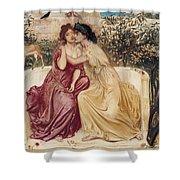 Sappho And Erinna In A Garden At Mytilene Shower Curtain