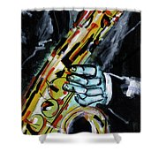 Sax Co-notations Shower Curtain