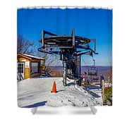 Scenery Around Timberline Ski Resort West Virginia Shower Curtain