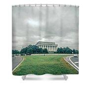 Scenes Around Lincoln Memorial Washington Dc Shower Curtain