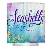Seashells By Jan Marvin Shower Curtain