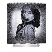 Selfportrait  Shower Curtain by Colette V Hera Guggenheim
