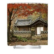 Seonamsa In Autumn Shower Curtain