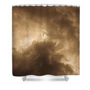Sepia Clouds Shower Curtain by David Pyatt