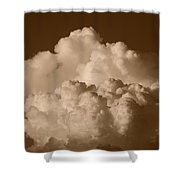 Sepia Clouds Shower Curtain