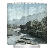 Serenity - Tranquil Stream Shower Curtain