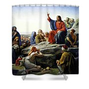 Sermon On The Mount Shower Curtain