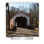 Sheards Mill Covered Bridge - Bucks County Pa Shower Curtain