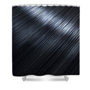 Shiny Black Hair  Shower Curtain