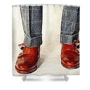 Shoe Work Shower Curtain