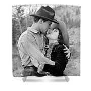 Silent Still: Hand Kissing Shower Curtain