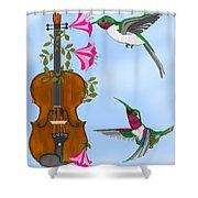 Singing The Song Of Life Shower Curtain