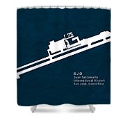Sjo Juan Santamaria International Airport In San Jose Costa Rica Shower Curtain