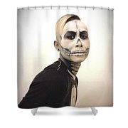 Skull And Tux Shower Curtain