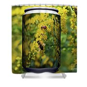 Small Insect Shower Curtain