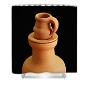 Small Pottery Items Shower Curtain