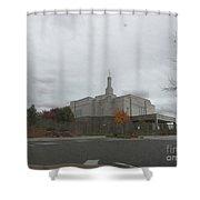 Snowflake Mormon Temple Shower Curtain
