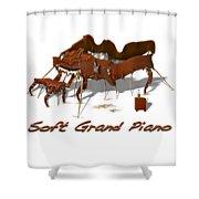 Soft Grand Piano  Shower Curtain