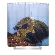 South Stack - Wales Shower Curtain