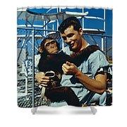 Space: Chimpanzee, 1961 Shower Curtain