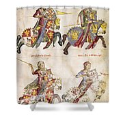 Spain: Knights, C1350 Shower Curtain