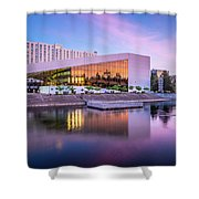 Spokane Washington City Skyline And Convention Center Shower Curtain