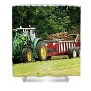 Spreading Manure Shower Curtain