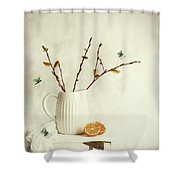 Springtime Still Life Shower Curtain