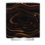 Squiggling Shower Curtain