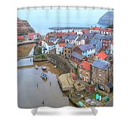 Staithes - England Shower Curtain