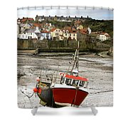Staithes, North Yorkshire, England Shower Curtain