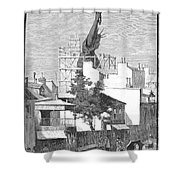 Statue Of Liberty, 1884 Shower Curtain