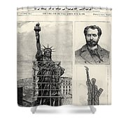 Statue Of Liberty, 1885 Shower Curtain