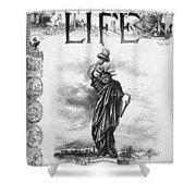 Statue Of Liberty Cartoon Shower Curtain