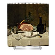 Still Life With Ham Shower Curtain