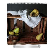 Still-life With Pears Shower Curtain