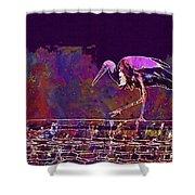 Stork Bird Fly Plumage Nature  Shower Curtain