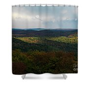 Storm Clouds Over Fall Nature Scenery Shower Curtain