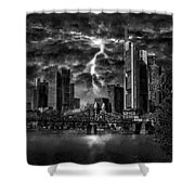 Storm Over Frankfurt Shower Curtain