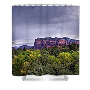 Storm Over Sedona  Shower Curtain