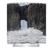 Storm Rock Shower Curtain