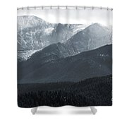 Stormy Pikes Peak Shower Curtain